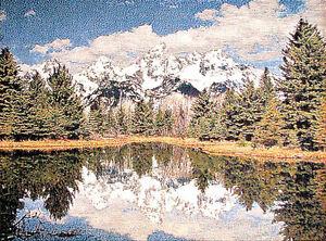 Tapisserie paysage russe miroire d coration murale for Tapisserie deco murale