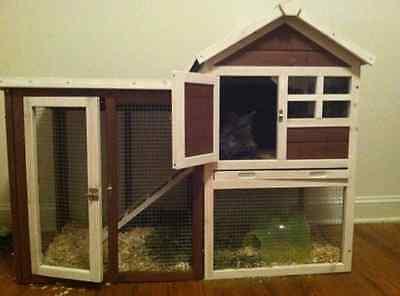Rabbit Chicken Hen Poultry Coop House Hutch ...