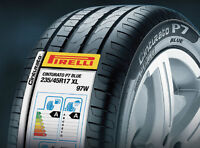 (4) BRAND NEW PIRELLI P7 ALL SEASON TIRES 225/45/R17 - $650