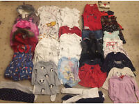 Baby girl's clothes bundle Age 12-18 months (40+ items)