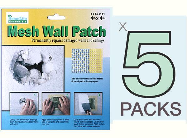 5 PACKS WALL REPAIR PATCH Fix Drywall Hole Ceiling Plaster Damage Metal Mesh 4X4