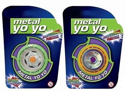 Metal Yo Yo Professional Alloy Ball Clutch Trick Kids Toy Gift Bearing Reel Fun