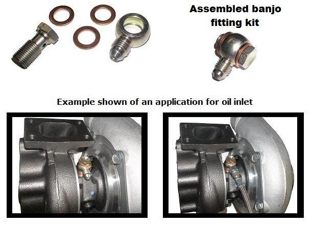 Restrictor Banjo Style Low Profile -4 An Oil Feed Kit,bolt,gt25/gt28/gt30/gt35