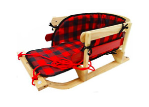 Traditional Baby Sleigh with Pad (Red pad included)