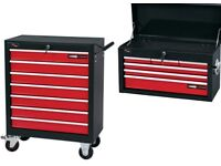 DRAPER 13 DRAWER 6 DRAWER TOP BOX & 7 DRAWER ROLLER CABINET TOOL CHEST COMBO