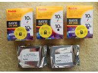 Kodak Inkjet cartridges 10b and 10c Printer died ! Unopened and sealed.