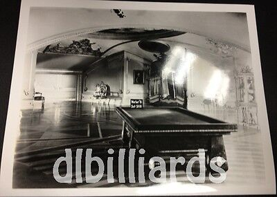Pool Billiards BBC Antique Billiard Table Medalist 8x10 Pool Player Still Unique
