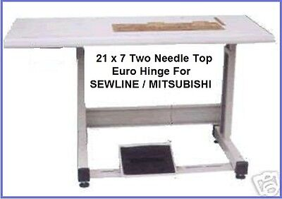 New Two-needle 21x7 Cut-out Table Set For Most 2ndl Industrial Sewing Machine