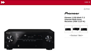 Pioneer VSX-1127-K 7.2-Channel 3D Ready A/V Receiver