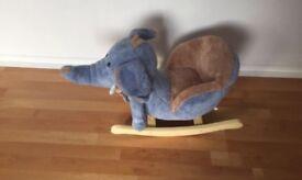 Need gone ASAP soft blue elephant rocker