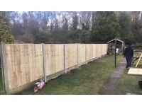 ☃️New Pressure Treated Feather Edge Flat Top Fence Panels• Excellent Quality