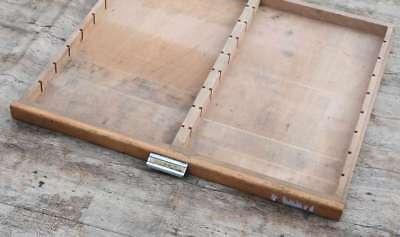 alte Schublade Druckereischublade Holz vintage shabby chic industrie design