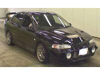 Black Mitsubishi EVO 4 black totally stock