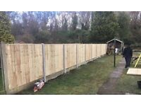 🌹New Flat Top Feather Edge Fence Panels • Timber