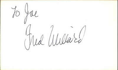 Fred Willard Actor Best in Show Signed 3