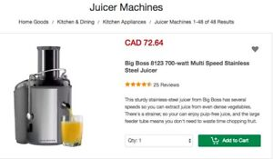 Juicer Machines-Big Boss 8123 700-watt Multi Speed Stainless