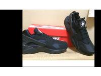 Brand new authentic nike air huarache triple black size 8.5