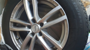 Michelin winter tires X-ice with wheels