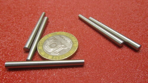 """Stainless Steel Taper Pin No. 2/0.141 Large End x .110 Small End x 1.50"""" L 10 Pc"""