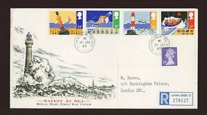 1985-Safety-at-Sea-ROYAL-COURT-Post-Office-with-BUCKINGHAM-PALACE-CDS-FDC