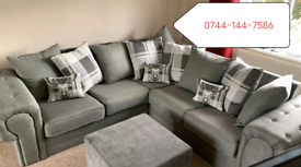 New 3+2 Or Corner Sofa available fast delivery ☺️😊