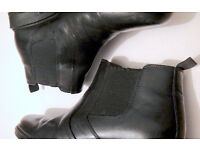Mens Smart Leather Chelsea Boots (Hush Puppies branded) - suitable for office wear, 9 / 8.5