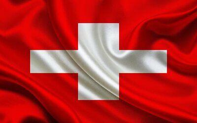 Switzerland  Flag Bügelbild,Markenqualität Waschbar bis