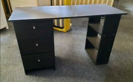 Argos Malibu black desk