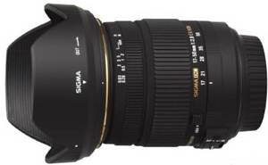 Sigma 17-50mm f2.8 OS HSM lens for Canon