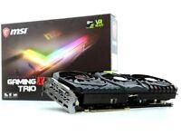 MSI NVIDIA Geforce GTX 1080 Ti Gaming X Trio 11GB GPU Video Graphic Card HDMI DVI DP Display Port