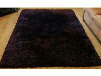 Purple/Black rug 230 cm x 160 cm.