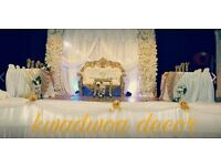 Throne Chairs for hiring and decorations for your special occassion