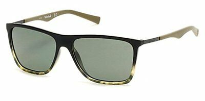 fe91b0753e0 NWT TIMBERLAND Sunglasses TB 9108 55R Polarized Black Green Havana / Green  57mm