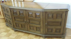 FREE Walnut TV Table - Solid Wood Console - Entertainment Unit