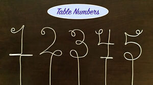 Personalized Wire Hangers, Cake Topper & Table Numbers - WEDDING Cambridge Kitchener Area image 4