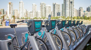 2 annual MOBI bike (365 Day Pass Plus) memberships