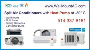 ~ Split Air Conditioner with Thermo Pump at -30°C SEER 20-25