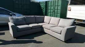 Marks and spencer seconds corner sofa in grey