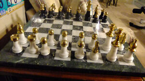 Collectible chess board set for chess fans and going-to-be grand