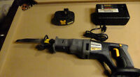 Panasonic Reciprocating Saw 18 Volt, Battery And Charger 3.5 Amp