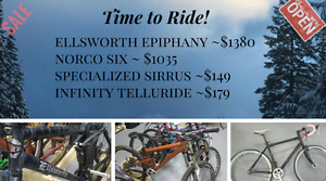 Mountain, Road, Bikes for Sale