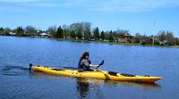 """New Winner Dreamer 14'7"""" Touring Kayak w/rudder & paddle"""