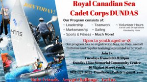Dundas Sea Cadets - JOIN NOW!  Ages 12-18!