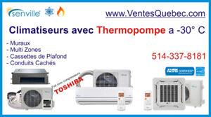 Thermopompe / Climatiseur Split Mural ... à -30° C!   SEER 21-25
