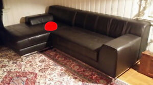 Ikea kramfors leather sectional couch