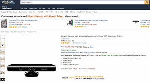XBox 360 Kinect Sensor & Adventures Game