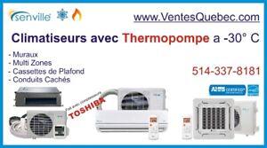 Air Climatisé mural / Pompe a Chaleur (-30°C) SEER 20-25