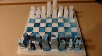 Large Onyx Marble Chess Set Hand Carved To Perfection   Turquoi