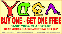 BUY ONE GET ONE YOGA CLASS CARD
