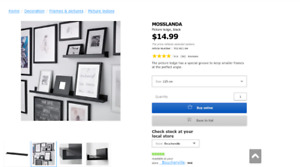 Brand new IKEA picture ledges for sale